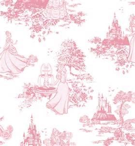 Disney Princess Rug Pink Disney Princess Toile Wallpaper 52cm X 10m From