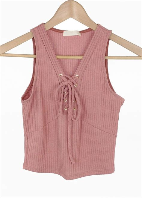 Lace Up Cropped Knit Tank Top 221 best images about crop tops on cropped