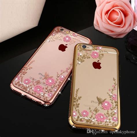 Casing Cover Hp Soft Bunga Swaroski Diamon Iring Samsung A3 A5 A7 2017 for iphone 7 plus rhinestone cell phone for floral butterfly soft tpu cover
