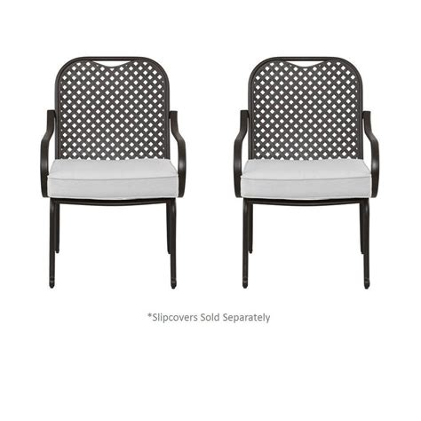 Patio Chair Inserts Hton Bay Fall River Patio Dining Chair With Cushion Insert 2 Pack Slipcovers Sold