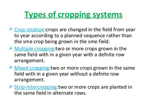 cropping pattern meaning in hindi cereal based cropping system in india