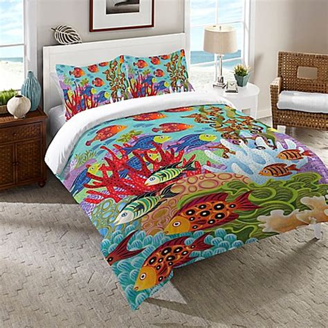 fish bedding buy laural home 174 fish in the hood twin comforter in teal