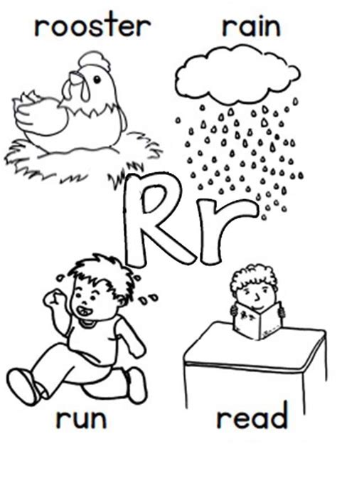 alphabet r coloring pages the letter r coloring pages vitlt com