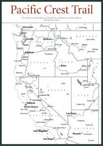 map of pacific crest trail in southern california sherpa guides california nevada pacific crest