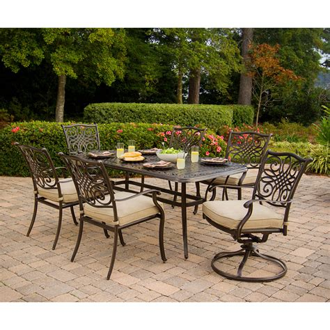 Patio Dining Sets For Two Hanover Traditions7pcsw Traditions Series 7 Patio