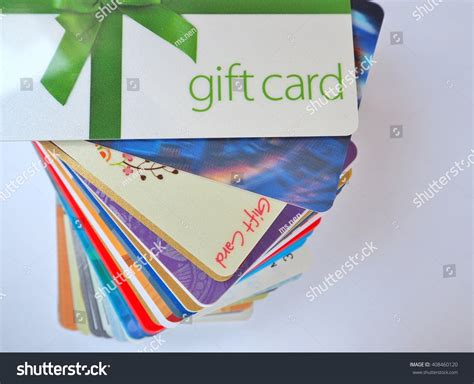 Stack Of Gift Cards - stack gift cards stock photo 408460120 shutterstock