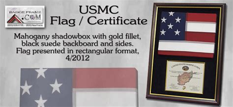 officer promotion certificate frame marine related framing projects