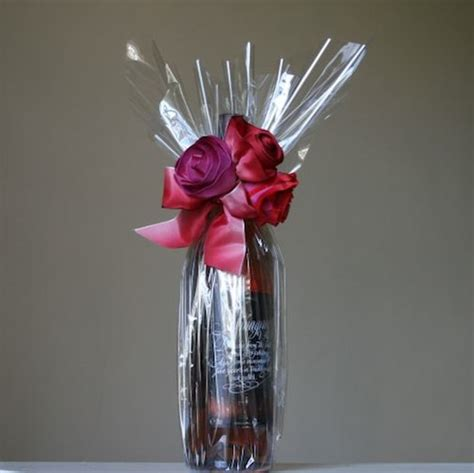 wrapping a gift basket with cellophane cellophane bottle wrapping wrap it this way