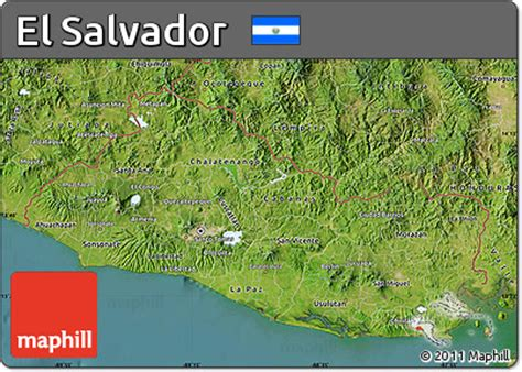 el salvador satellite map free satellite map of el salvador