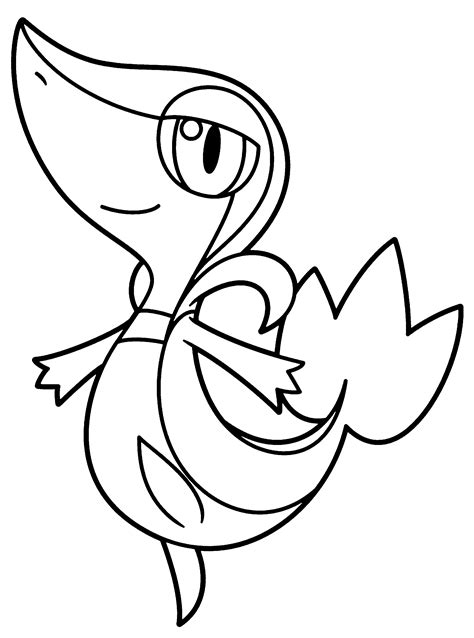 snivy pokemon coloring page pokemon paradijs kleurplaat snivy