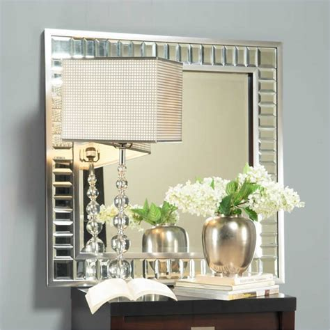 bling bathroom mirrors angelo home marlowe square mirror in bling 4b2683as