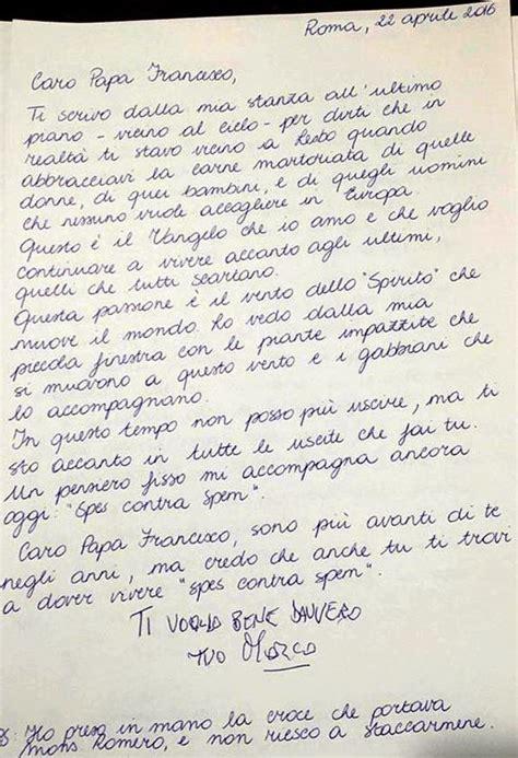 lettere per un carcerato marco pannella l ultima lettera a papa francesco quot ti