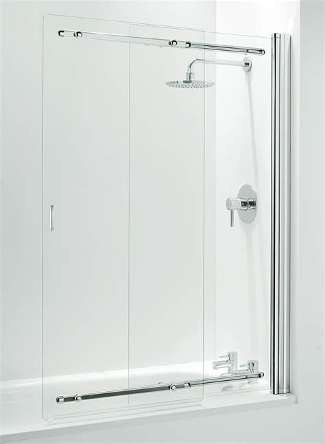 two panel sliding shower bath screen 2 panel sliding bath shower screen ebay