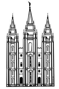 Free Lds Salt Lake Tle Clipart Salt Lake Temple Coloring Page