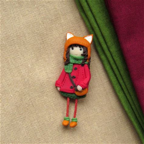 doll brooch shop fox brooch on wanelo