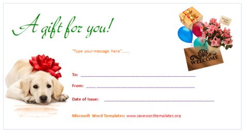 gift certificate templates birthday gift certificate template
