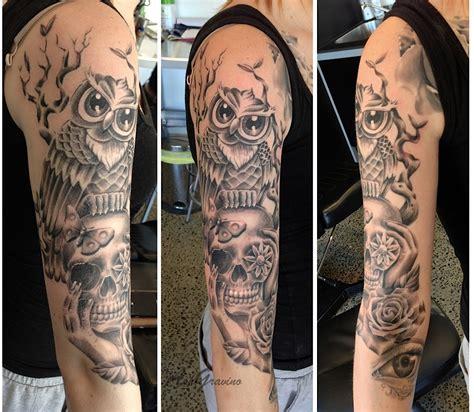 quarter sleeve owl tattoo tattoo sleeve owl google search tattoos pinterest