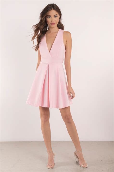 blush dress plunging dress beautiful pink dress