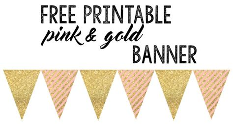 free printable anniversary banner pink and gold banner free printable paper trail design