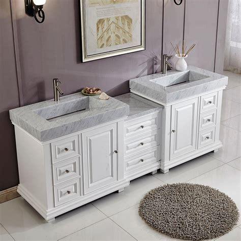 90 bathroom vanity 6286wr90d 90 double sink vanity carrara white marble top