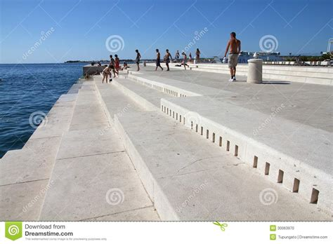 sea organ croatia zadar sea organ editorial image image of tourists europe