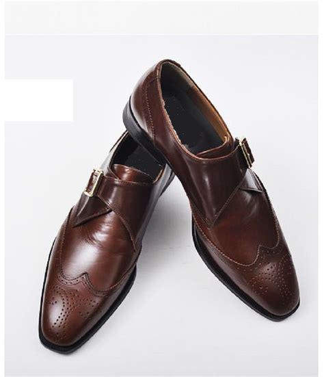 Handmade Dress Shoes - handmade black dress shoes mens leather monk shoes