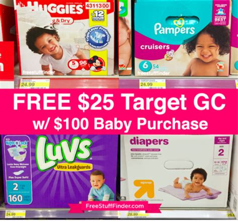 Target 25 Gift Card With 100 Baby Purchase - free 25 target gift card with 100 baby purchase stock up on diapers