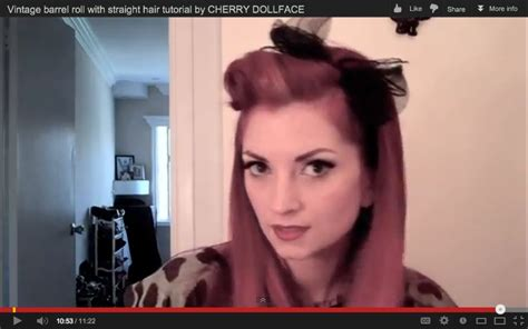 retro hairstyles for long straight hair easy vintage barrel roll with straight hair tutorial by