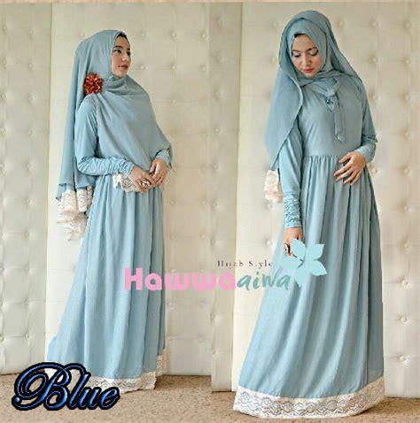 Baju Muslim Dress Gamis Khimar Syari Azizah Syarii busana muslimah syar i terbaru gaun pesta muslim pusat