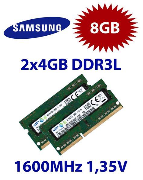 Ram Jenis Sodimm Ddr3l Pc 12800 samsung 2x 4gb 8gb kit ddr3l ram 1600 mhz pc3 12800 so