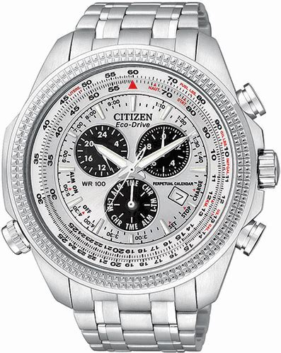 Men's Citizen Eco Drive Perpetual Calendar Chronograph Watch BL5400 52A
