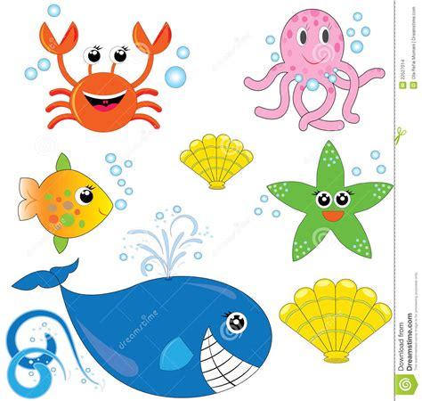 imagenes animales de mar conjunto de animales de mar lindos imagenes de archivo