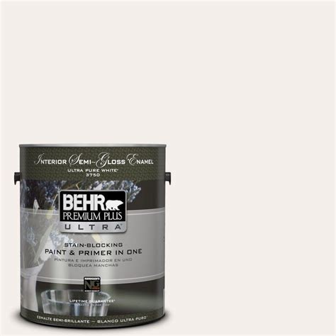 behr premium plus ultra 1 gal gr w15 palais white semi gloss enamel interior paint 375001 on