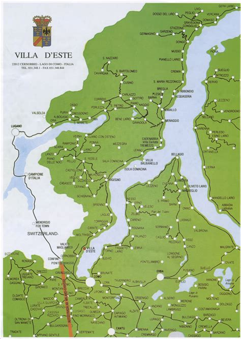lake como italy map lake como map lake como bellagio italy mappery