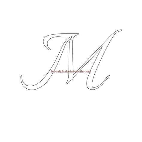 Free Printable Calligraphy Letter Stencils