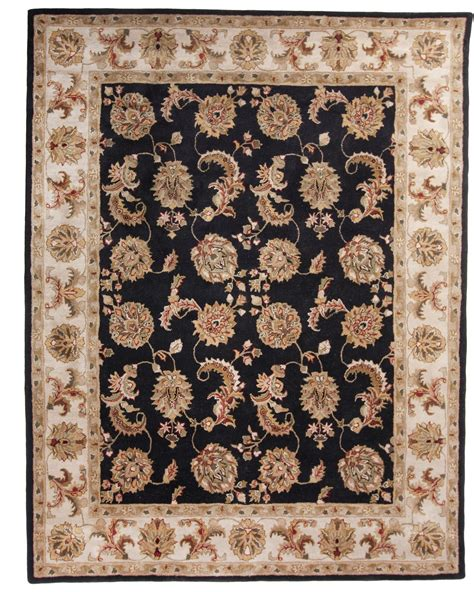 8 x 10 wool rugs black tufted traditional wool area rug carpet 8 x 10