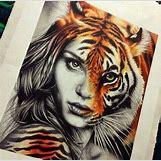Half Lion Half Tiger Art | 480 x 472 jpeg 58kB