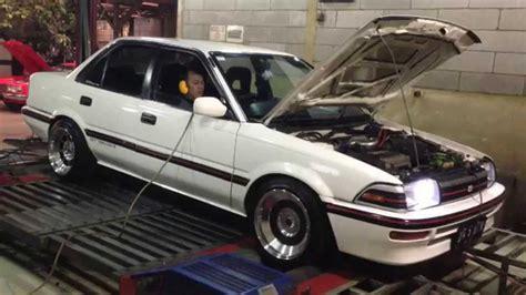 Stop L Corolla Twincam Ae92 dyno tuning haltech ps500 toyota corolla ae92 4a gze 1 6l