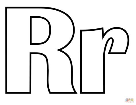 classic letter r coloring page free printable coloring pages