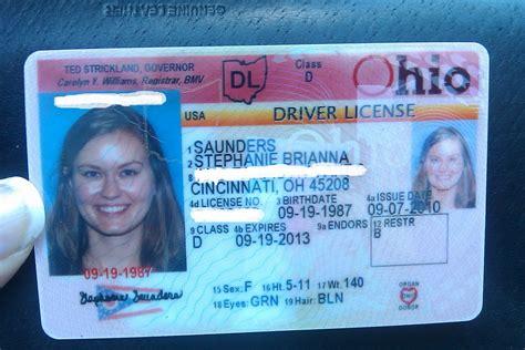 ohio drivers license template and take cincinnati september 2010