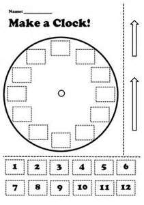 Make A Clock Template by 25 Best Ideas About Teaching Clock On Clock
