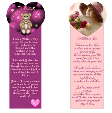 printable bookmarks mother s day 9 best images of printable mother s day bookmarks mother