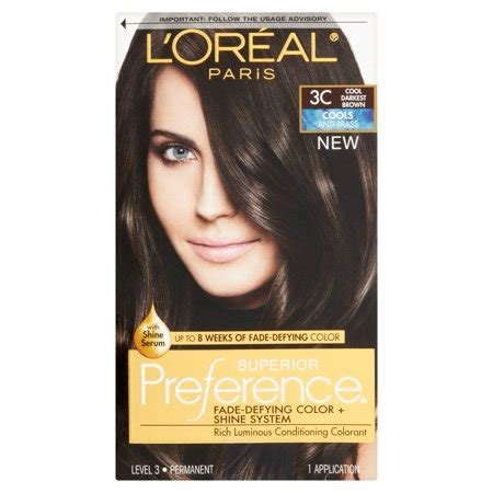 l oreal hair color 1b blue black cooler excellence creme richesse level3 ebay l oreal superior preference 3c cool darkest brown rich luminous conditioning colorant