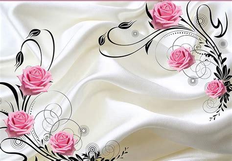 wallpaper dinding pink putih high quality grosir rose putih latar belakang dari china