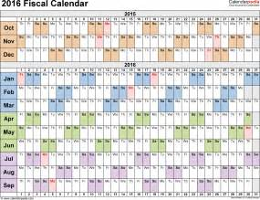 Day Of The Year Calendar Fiscal Calendars 2016 As Free Printable Pdf Templates