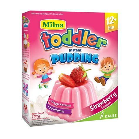 Milna Toddler Pudding Jual Milna Toddler Instant Pudding Strawberry 12m Makanan Bayi Harga Kualitas