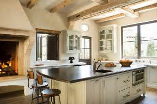 kitchen fireplace ideas kitchen with rustic fireplace transitional kitchen