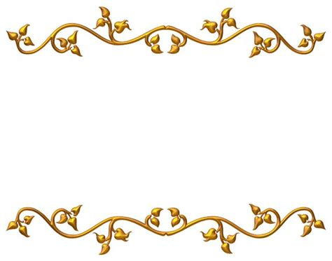 Golden Wedding Anniversary Border by 14 Gold Transparent Green Frame Vector Images