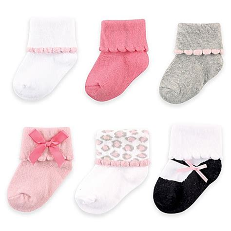 Happy Baby Socks 6 12m Murah gt accessories gt babyvision 174 luvable friends 174 size 6 12m 6 pack dressy cuff socks from buy