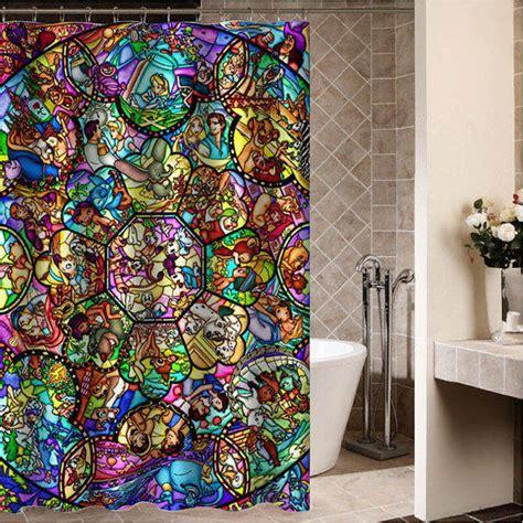 disney shower curtain set disney all charecter custom shower from desemberkah on etsy